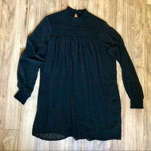 Zara Basic Mock Neck Long Sleeve Fall Tunic Dress